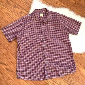 GH Bass &Co checked short sleeve dress shirt